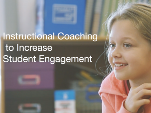 coaching to increase student engagement